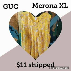 Merona sunny yellow sleeveless blouse